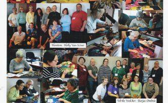 Collage de fotos de Pamela Nothingham...la maravillosa profesora y autora inglesa que nos acompaña cada año.